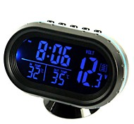 cheap -ZIQIAO Multi-Functional Car Electronic Clock/Thermometer/Voltmeter with Night Lights White Glass Screen (Random Colors)