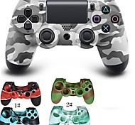 Недорогие -камуфляж двойной шок беспроводной контроллер Bluetooth игры + силиконовый защитный чехол для PS4