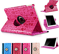 360 Degree Rotating Cute Cartoon PU Leather Stand Smart Sleep Wake Cover Case For iPad Mini 4 (Assorted Colors)
