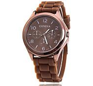 cheap -Xu™ Women's Quartz Wrist Watch Casual Watch Silicone Band Charm Casual Fashion Black White Blue Red Brown Green Pink Purple
