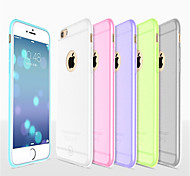 cheap -Case For Apple iPhone 8 iPhone 8 Plus iPhone 6 iPhone 6 Plus Ultra-thin Frosted Translucent Back Cover Solid Color Soft Silicone for