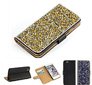 роскошный Bling кристалл& Мешок флип алмаз кожа для iPhone 6 / iPhone 6s (ассорти цветов)