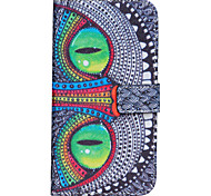 Green eyes  Painted PU Leather Full Body Case for Galaxy J5/Galaxy J7