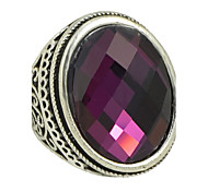 Недорогие -большой одиночный цветной камень кольцо свадебное платье элегантный женственный стиль