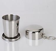 Недорогие -Походная чашка Один экземляр Компактность Нержавеющая сталь для