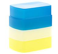 новый силиконовый гибкий флэш-диффузор отскок софтбокс белый + желтый + синий для канона 580EX II уп-568/565/560-III