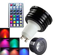 Недорогие -300 lm GU10 Точечное LED освещение MR16 1 светодиоды Высокомощный LED Диммируемая Декоративная На пульте управления RGB AC 100-240 В