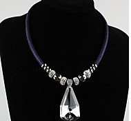 MPL Europe magnetic buckle Crystal Pendant Necklace