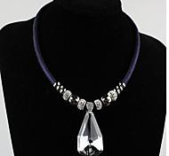 Недорогие -Женский европейский Ожерелья с подвесками Кристалл Сплав Ожерелья с подвесками ,