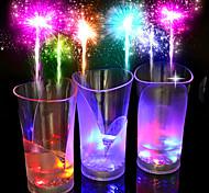 новый красочный цвет, бар, роман из стекла / чашки / стекло / пластик 1шт чайный напиток