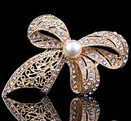 cheap -Women's Cute Work Casual Cute Style Pearl Crystal Cubic Zirconia Alloy Butterfly Animal Gold Jewelry For Wedding Party Special Occasion