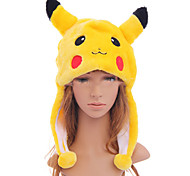 Hat/Cap Inspired by Pocket Monster PIKA PIKA Anime/ Video Games Cosplay Accessories Hat Black / Red / Yellow Polyester Male / Female