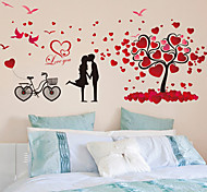 cheap -Decorative Sticker Bedroom Romantic Couple Wall Stickers