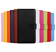 For Nokia Case Wallet / Card Holder / with Stand Case Full Body Case Solid Color Hard PU Leather Nokia Other
