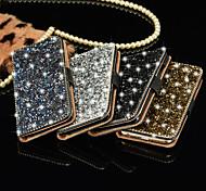 роскошный блестящий алмаз полный пу кожаный чехол крышка с безопасной пряжкой случае сотового телефона побрякушки для iphone 6 / 6с