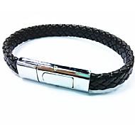 Муж. Кожаные браслеты Простой стиль Регулируется Открытые бижутерия Кожа Бижутерия Назначение Повседневные Спорт