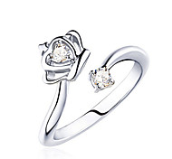 cheap -Women's Sterling Silver / Crystal Statement Ring - Fashion Silver Ring For Party / Daily / Casual