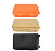 Outdoor Survival Water-Resistant Anti-Shock Sealed Storage Case Container - Black / Orange / Khaki (Large)