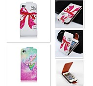 Fein patten up-down wiederum über PU-Leder Ganzkörper-Case für iPhone 4 / 4s