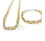 Men's Jewelry Set Fashion Daily Casual Sports Stainless Steel Necklaces Bracelets & Bangles