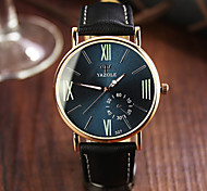 cheap -Men's Wrist Watch Casual Watch Leather Band Charm Black / Brown