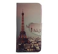 dibujo coloreado funda móvil de cuero de la PU incluyendo anti-polvo de la aguja del enchufe para Huawei p8 Lite