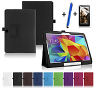 Fashion Top Quality Smart PU Leather Cover For Samsung Galaxy Tab 4 10.1 T530 Tablet Case+Free Screen Protector+ Pen