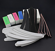 52pcs / set Dateien Pufferblock Nagelkunstsalon Maniküre pedicurehilfsmittel UV Gel-Set Schleifen-Kits