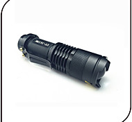 High-Low-Strobe LED Flashlights / Torch LED 250 lumens lm 3 Mode Cree Q5 Adjustable Focus Impact Resistant Waterproof Pocket Zoomable for