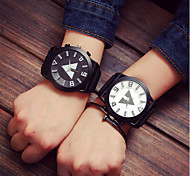 cheap -Men's / Women's / Couple's Sport Watch Casual Watch Silicone Band Charm / Fashion Multi-Colored
