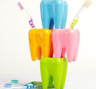 Зубы форма зуба держатель щетки 4 сетки стенд стойку полки кронштейн контейнер случайный цвет
