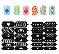 2016 новые наклейки шаблон полые искусства ногтя штамповочные многоразовые марка трафарет руководство поделки ногтей украшения этикеты