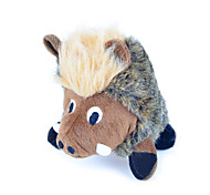 Cat Toy Dog Toy Pet Toys Plush Toy Squeak / Squeaking Pig Textile Brown