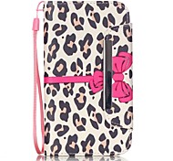 For Samsung Galaxy Case Card Holder / Wallet / with Stand / Flip Case Full Body Case Leopard Print PU Leather Samsung J5