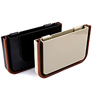 Multifunctional Universal Car Storage Box Container with Clip(Black/Beige)