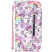 Недорогие -пони шаблон PU кожаный бумажник чехол для Samsung Galaxy s7 / s7 край / s4 / s5 / s6 / s6 край / галактики s6 края плюс