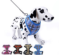 cheap -Dog Harness / Leash Adjustable/Retractable Plaid/Check Red / Blue / Yellow / Rose Nylon