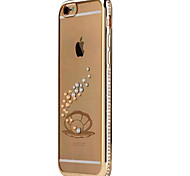 Luxury Rhinestone Case For iPhone 6S 4.7 Diamond Crystal Sparkling Gold Bling Electroplating Drill Phone Back Cover