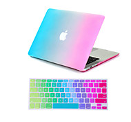 "Case for Macbook Air 11.6"" MacBook Pro 13.3""/15.4"" Color Gradient ABS Material 2 in 1 Rainbow Colorful Full Body Case + Keyboard Cover"