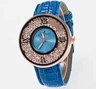 cheap -Women's Floating Crystal Watch Fashion Watch Quartz Imitation Diamond PU Band Charm Black White Blue Red Brown Rose