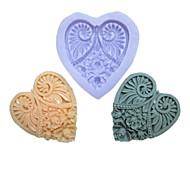 Недорогие -одно отверстие длинное сердце цветок силиконовая форма для тортов bakewares украшение