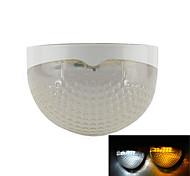 6LEDs luce-controllo di illuminazione impermeabile caldo / freddo bianco della lampada pannello solare