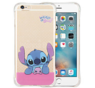 cheap -Case For Apple iPhone X iPhone 8 iPhone 6 iPhone 6 Plus Shockproof Transparent Back Cover Cartoon Soft Silicone for iPhone X iPhone 8