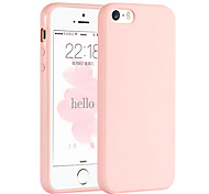 Pink Girl Solid Colour Elegant Simple Soft Case for iPhone 5/iPhone 5S