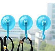 5pcs Corlorful стены ванной комнаты кухонные крючки вешалки присоске присосками случайные цвета