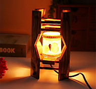Creative Wood The Seashells Cylindrical Lamp Container Decoration Desk Lamp Bedroom Lamp Gift for Kid