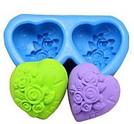 Недорогие -в форме сердца розы помадной массы торт шоколадный силиконовые формы