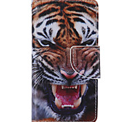 cheap -Tiger Painted PU Phone Case for Sony Xperia Z5 Compact Z5 M5 M2 XA Xperformace