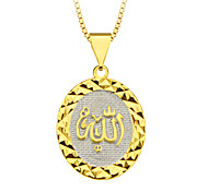 Недорогие -Золото 18k покрыло призматических кулон к богу ювелирные изделия Специальный дизайн для женщин / мужчин подарочных оптовых p30140