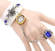 Женские Модные часы Часы-браслет Кварцевый PU Группа Богемные Элегантные часы Черный Белый Коричневый